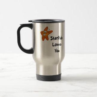 L'étoile de mer vous aime mug de voyage
