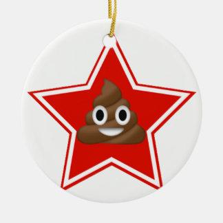L'étoile Emoji Poo Dble-a dégrossi ornement