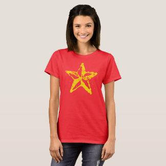 L'étoile rouge utilisée par T-shirt de base des