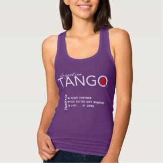 L'étreinte - un Haiku de tango - mon coeur admet Débardeur