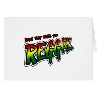 Lets deviennent gentil en musique de reggae de carte de vœux