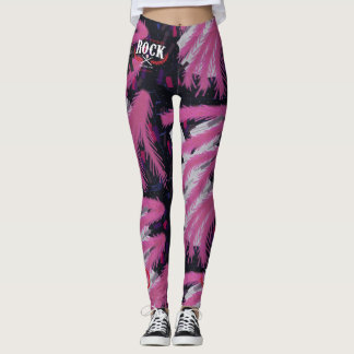 LetThemRock_BeingThere_PurpleReignPinkBoa_Leggings Leggings