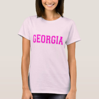 Lettrage de rose de T-shirt de la Géorgie