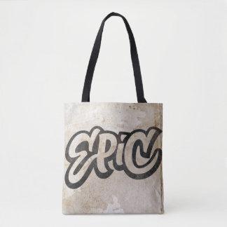 Lettrage ÉPIQUE - grunge de graffiti - soyez Tote Bag