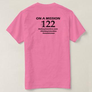 """Lettrage noir (rose) de T-shirt """"sur mission"""""""