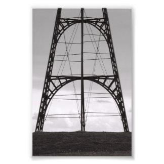 Lettre A3 4x6 d alphabet de photo noire et blanche