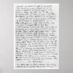 Lettre à Richard Wagner le 17 février 1860 Poster
