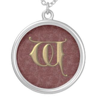 Lettre antique W (2) Pendentif Rond