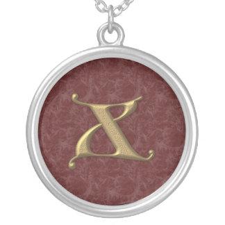 Lettre antique X (2) Pendentif Rond