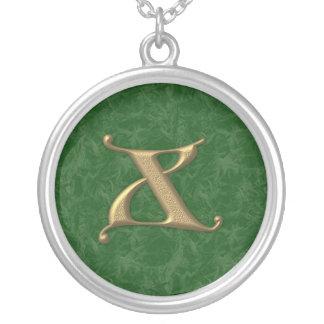 Lettre antique X Pendentif Rond