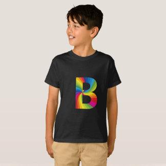 Lettre B d'arc-en-ciel pour le T-shirt de Hanes