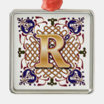 Lettre celtique R de monogramme Ornement De Noël