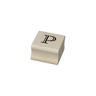 Lettre classique P de monogramme timbre de 1 pouce