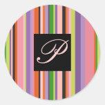 Lettre colorée audacieuse P - personnaliser de Adhésifs Ronds