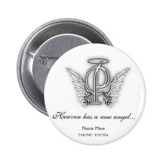 Lettre commémorative P d'hommage de monogramme Badge
