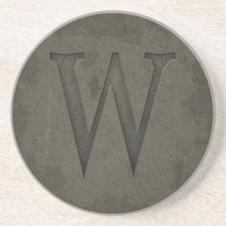 Lettre concrète W de monogramme Dessous De Verres