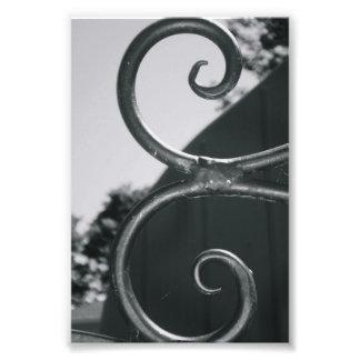 Lettre d'alphabet E (5) noire et blanche Tirages Photo