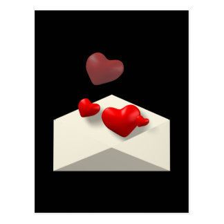 Lettre d'amour cartes postales