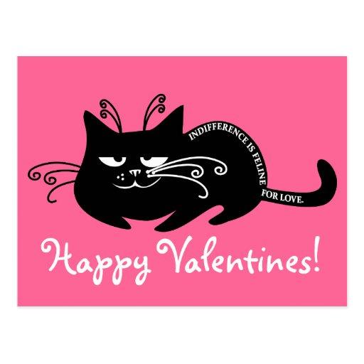 Lettre d'amour de mon chat : langue féline parlant carte postale