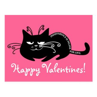 Lettre d'amour de mon chat : langue féline parlant cartes postales