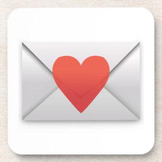 Lettre d'amour - Emoji Dessous-de-verre