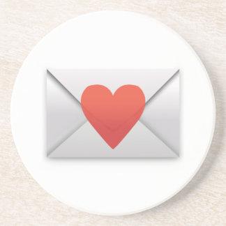 Lettre d'amour - Emoji Dessous De Verre En Grès