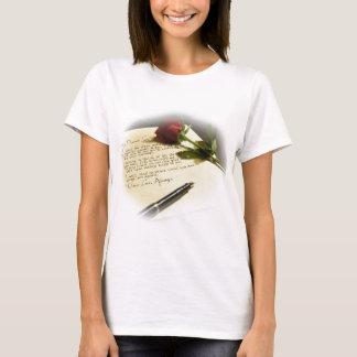 lettre d'amour - entièrement personnalisable avec t-shirt