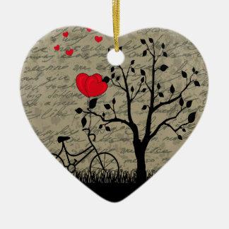 Lettre d'amour ornement cœur en céramique