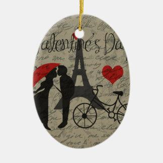 Lettre d'amour - Paris Ornement Ovale En Céramique