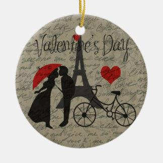 Lettre d'amour - Paris Ornement Rond En Céramique