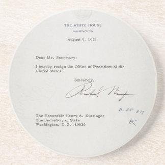 Lettre de démission du Président Richard M. Nixon Dessous De Verres