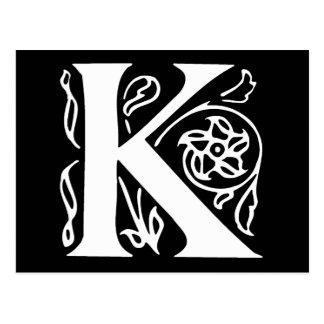 Lettre de fantaisie K Carte Postale