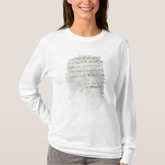 Lettre de George Frederick Handel T-shirt