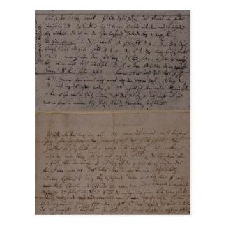 Lettre de Leopold Mozart Carte Postale