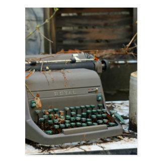 Lettre de machine à écrire carte postale