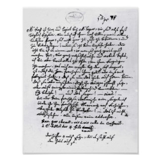 Lettre de Mozart à son père, le 5 avril Affiches