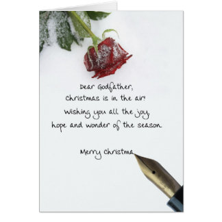 Lettre de Noël de parrain sur le papier rose de Carte De Vœux
