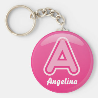 Lettre de porte - clé une bulle rose porte-clés