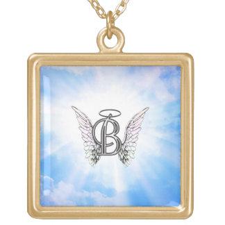 Lettre initiale d'alphabet du monogramme B avec Pendentif Carré