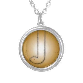 Lettre initiale de J Pendentif Personnalisé