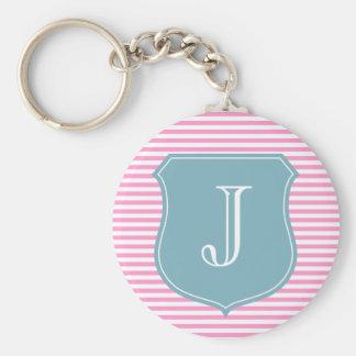 Lettre initiale personnalisée du keychain | J de m Porte-clé Rond