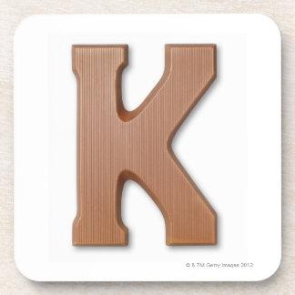 Lettre k de chocolat sous-bocks