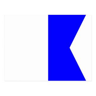 Lettre nautique A (alpha) de signal de drapeau Carte Postale