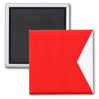 Lettre nautique B (bravo) de signal de drapeau Aimant