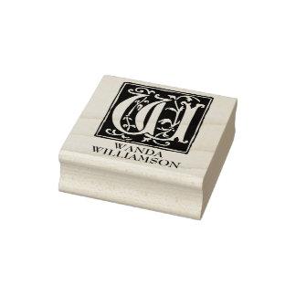 Lettre ornementale W d'alphabet personnalisée