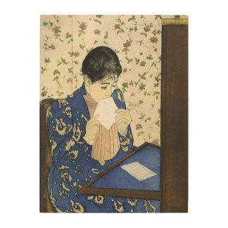 Lettre par Mary Cassatt art vintage Impressions Sur Bois