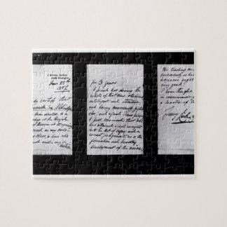 Lettre signée, 1887 (à l'encre sur papier) (b/w pH Puzzle