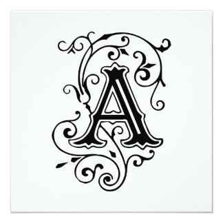 Lettre victorienne élégante un monogramme carton d'invitation  13,33 cm