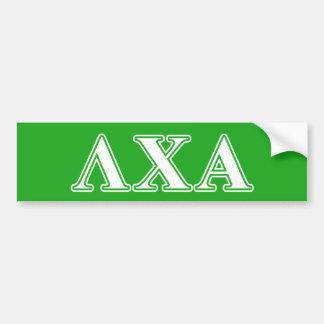 Lettres blanches de Chi de lambda alpha et vertes Autocollant De Voiture