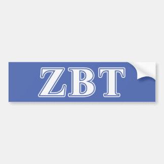 Lettres blanches et bleues de bêta Tau de Zeta Autocollant Pour Voiture